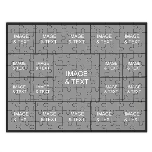Personalized Instagram Black 19 Collage 12X16.5 Photo Puzzle