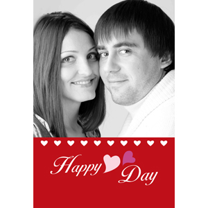 Happy Heart Day Personalized Animated Invitation Card (4 X 6)