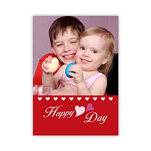 Sweet Love Personalized Photo Valentine Card, 5x7 Flat