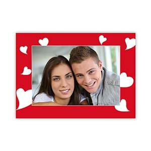 Many Hearts Personalized Photo Valentine Card, 5X7 Flat