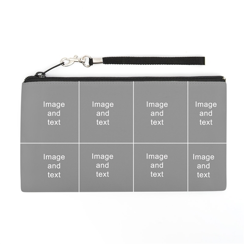 Personalized Instagram 8 Collage 5.5X10 (2 Side Different Image) Clutch Bag (5.5X10 Inch)