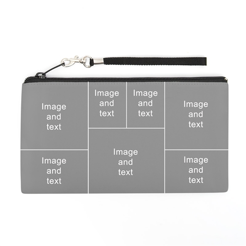 Personalized Instagram Seven Collage 5.5X10 (2 Side Same Image) Clutch Bag (5.5X10 Inch)