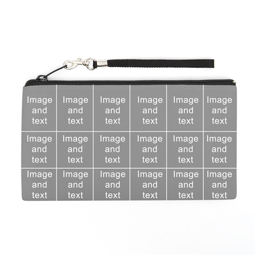 Personalized Instagram 18 Collage 5.5X10 (2 Side Different Image) Clutch Bag (5.5X10 Inch)