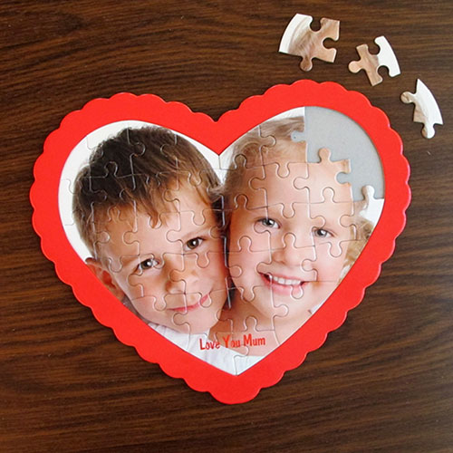 We Heart Grandma Personalized Heart Shape Puzzle