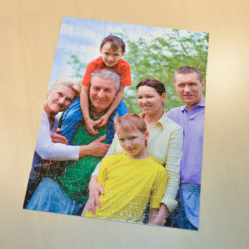 Jumbo 70 or 252 or 500 Pc Portrait Photo Puzzle 18X24, Personalized Box