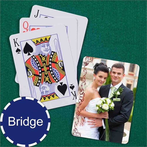 Wedding Bridge Size Playing Cards Cranberry Lace Standard Index