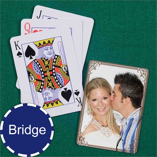 Wedding Bridge Size Playing Cards Cocoa Vintage Standard Index