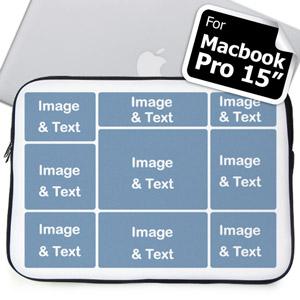 Personalized Nine Collage Macbook Pro 15 Sleeve (2015)