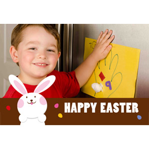 Bunny Blessings Animated Photo Card Personalized Animated Invitation Card (4 X 6)