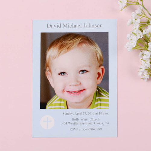 Print Your Own Shining Day – Boy Communication Photo Invitation Cards