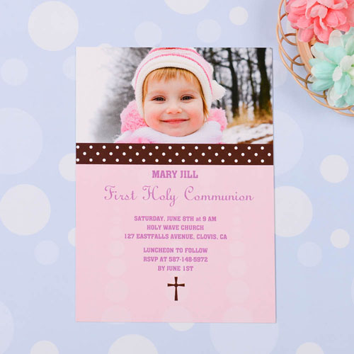 Print Your Own Sweet Polka Dots – Bloom Communication Photo Invitation Cards
