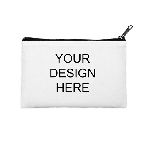 Custom Full Color Print 6X9 Cosmetic Bag Black Zipper (2 Side Same Image)