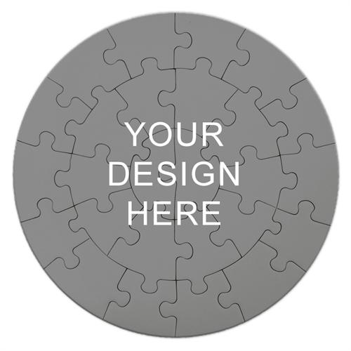 Print Your Design Round Puzzle 7 1/4