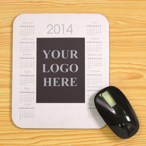 Custom Printed Portrait Calendar Mouse Pad, White