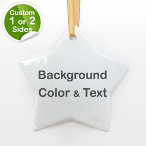 Personalized Background Color & Text Star Star Shaped Ornament