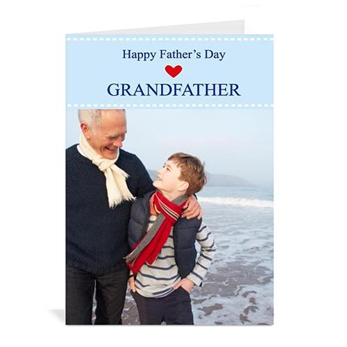 Custom Printed Perfect Grandpa Greeting Card