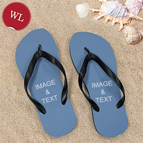 Design My Own Two Images Women Large Flip Flop Sandals