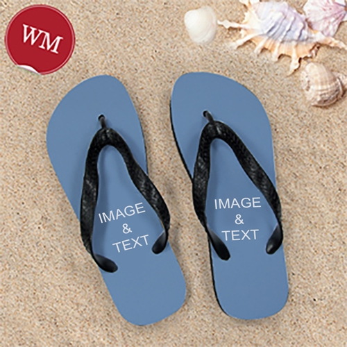 Create My Own Two Images Women Medium Flip Flop Sandals
