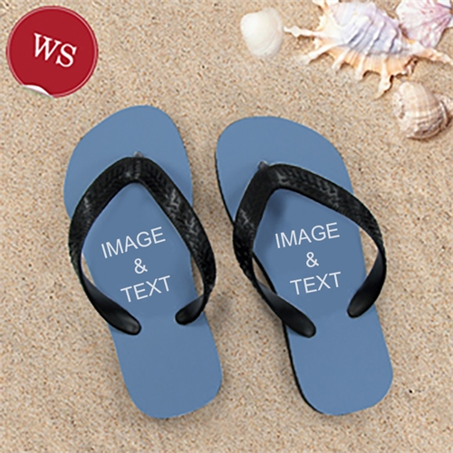 Make My Own Two Images Women Small Flip Flop Sandals