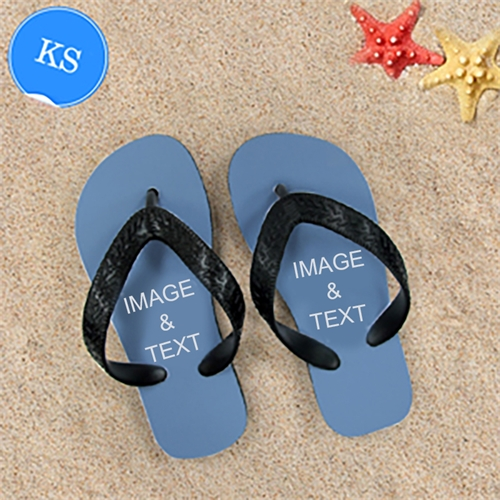 Design My Own Two Images Kids Small Flip Flops