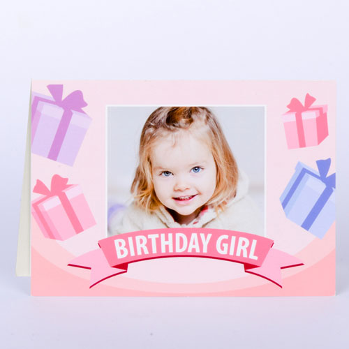 Custom Printed Birthday Girl Greeting Card
