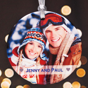 Personalized Simple Heart Ornament