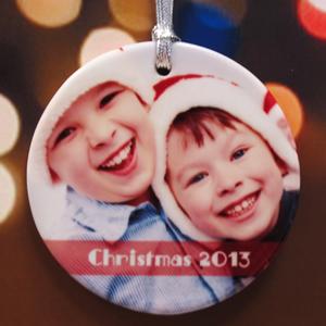 Heartfelt Blessings Personalized Photo Porcelain Ornament