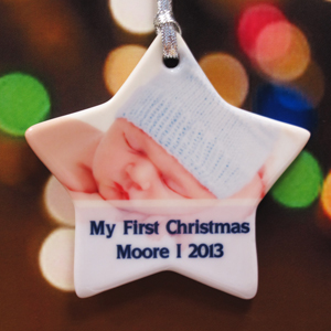 Personalized Stardust Sweet Boy Star Shaped Ornament