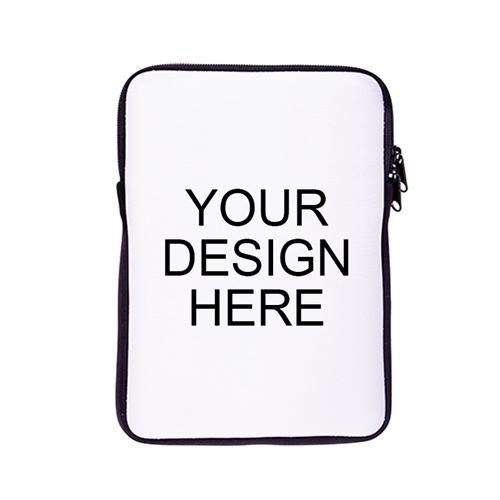 Custom Printed Ipad Mini Sleeve, Black Zipper