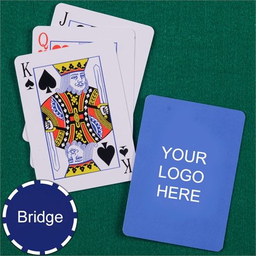 Custom Printed Bridge Size Playing Cards Standard Index