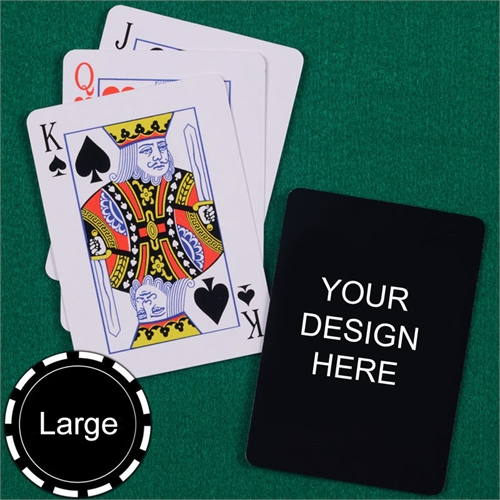 Print Your Design Jumbo Size Standard Index Playing Cards