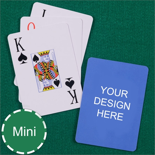 Custom Printed Mini Size Playing Cards Jumbo Index