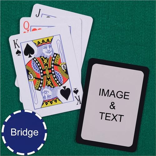 Bridge Size Playing Cards Standard Index Black Border