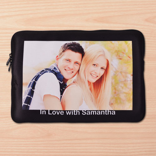 Custom Macbook Pro 13 Sleeve, Black Border (2015)