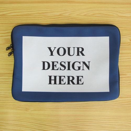 Custom Macbook Pro 13 Sleeve, Blue Border (2015)