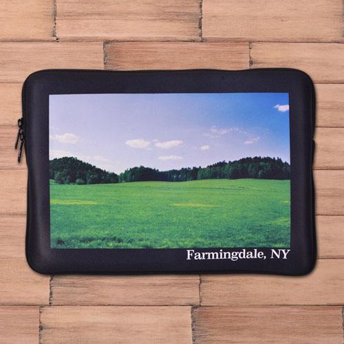 Custom Macbook Air 13 Sleeve, Black Border