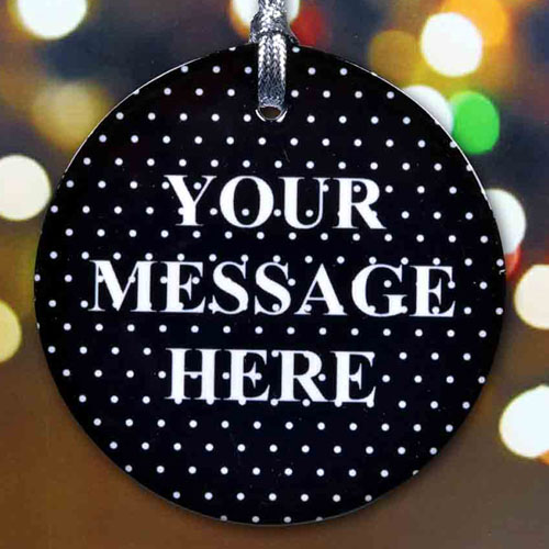 Black Polka Dot Message