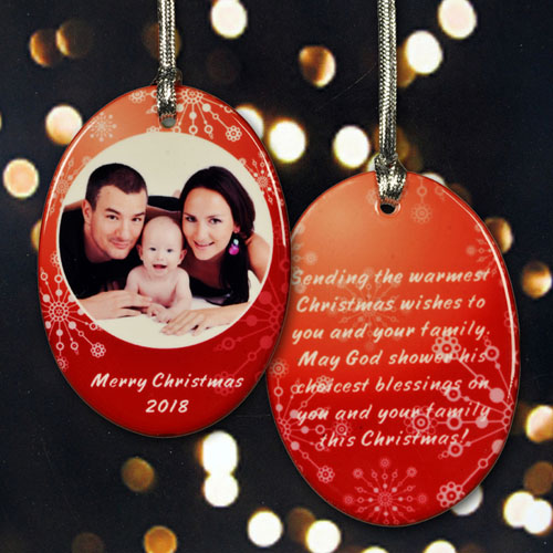 Personalized Hanging With Family Ornaments