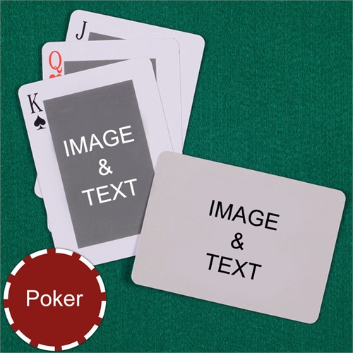 Poker Classic Custom 2 Side Landscape Playing Cards