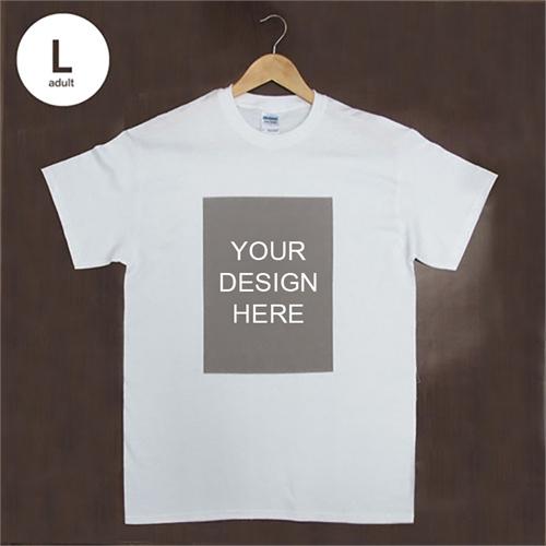 Custom Print Cotton White Portrait Image Adult Large T Shirt