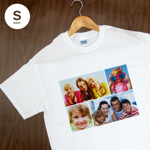 Cotton White Four Collage Adult Small