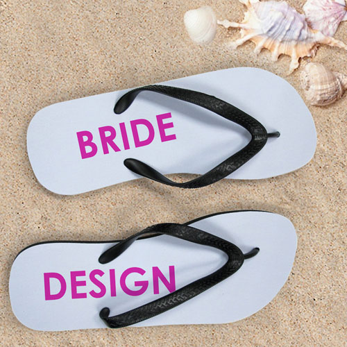 Personalized Bridal Flip Flops (Women's Small)