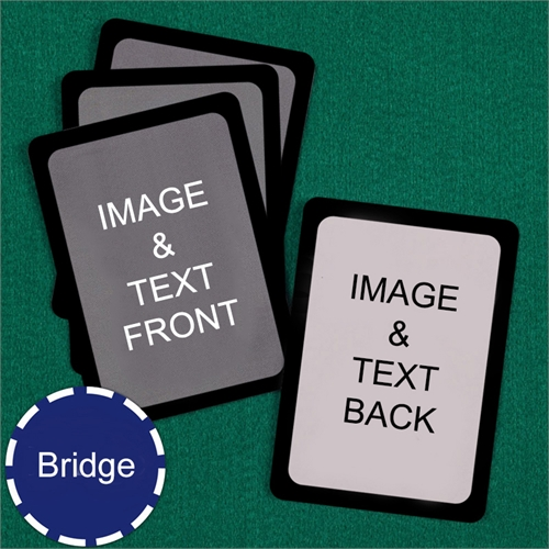 Bridge Size Playing Cards Custom Cards (Blank Cards) Black Border