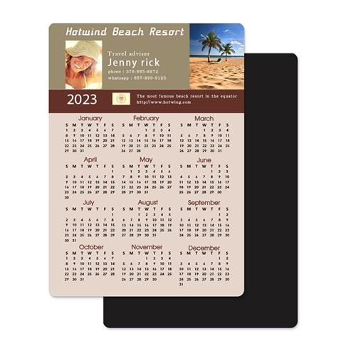 Portrait Photo Calendar Magnet 3.5