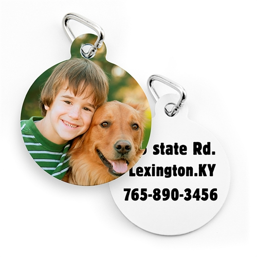 Custom Printed Round Shape (Custom 2 Side) Dog Or Cat Tag
