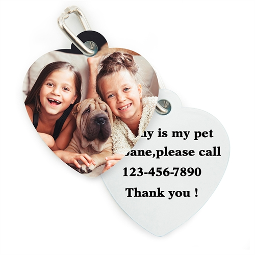 Personalized Heart Shape (Custom 2 Side) Dog Or Cat Name Tag