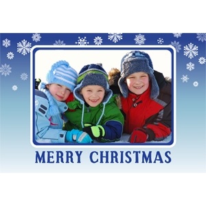 Personalized Blue Christmas Lenticular Greeting Card