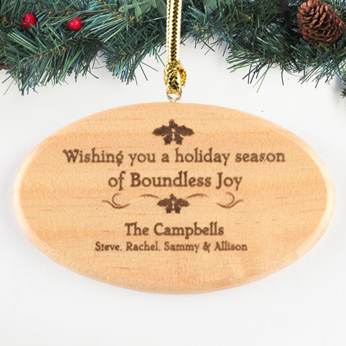 Heartfelt Blessings Personalized Wood Ornament