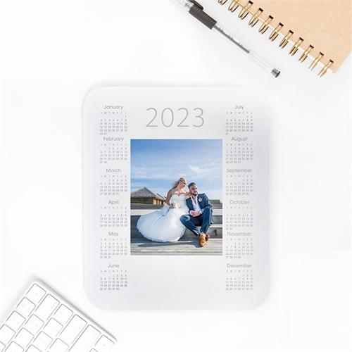 Custom Printed Portrait Calendar 2020 White Mouse Pad