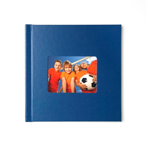 Personalized 12X12 Navy Leather Hard Cover Photo Book